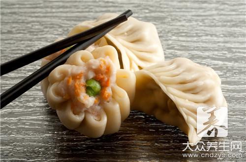 香菇油菜饺子